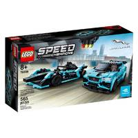 LEGO Speed Champions Formula E Panasonic Jaguar Racing GEN2 car & Jaguar I-PACE eTROPHY 76898