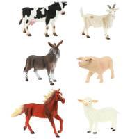 Dierenset boerderij dieren 6-delig