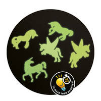 EENHOORN GLOW IN THE DARK STICKERS