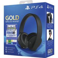 PS4 GOLD WIRELESS HEADSET+FORTNITE VCH