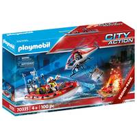 PLAYMOBIL City Action brandweermissie met helikopter 70335