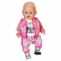 BABY BORN DELUXE TRENDY PINK SET 43CM