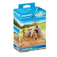 PLAYMOBIL Family Fun kolonie stokstaartjes 70349