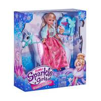 Sparkle Girlz winter prinses met koninklijk paard