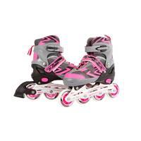 Inline skates - maat 31-34 - roze/grijs