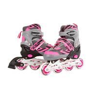Inline skates - maat 35-38 - roze/grijs