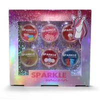 Sparkle Unicorn lipgloss met snoepsmaak - 6 stuks