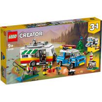 LEGO Creator familievakantie met caravan 31108