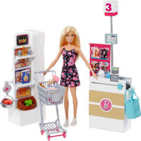 Barbie supermarkt speelset