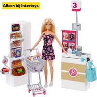 Barbie supermarkt speelset
