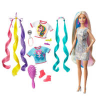 Barbie fantasiehaar pop