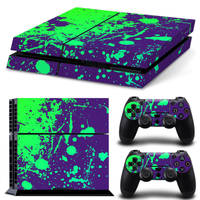 PS4 skin Splatter Purple Lime