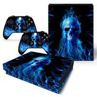 Xbox One X skin Fire Skull