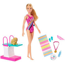 Barbie Dreamhouse Adventures Barbie zwem- en duikpop