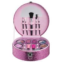 Make-up koffer glitter - roze