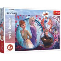 Disney Frozen 2 puzzel zussen op avontuur - 160 stukjes