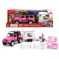 PLAYLIFE-PAARDEN TRAILER SET ROZE