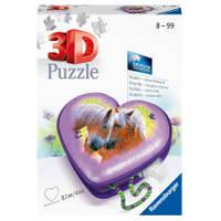 Ravensburger 3D-puzzel paarden hartendoosje - 54 stukjes