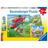 Ravensburger puzzelset vliegtuigen - 3 x 49 stukjes