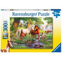 Ravensburger XXL puzzel wilde paarden bij de rivier - 300 stukjes