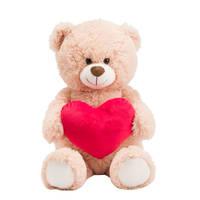 LINDA.foundation beer met rood hart - 40 cm
