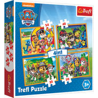 Trefl PAW Patrol 4-in-1 puzzelset altijd op tijd - 35 + 48 + 54 + 70 stukjes