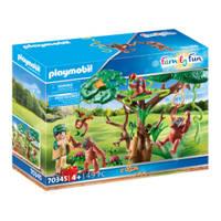 PLAYMOBIL Family Fun orang-oetans in de boom 70345