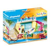 PLAYMOBIL Family Fun bungalow met zwembad 70435