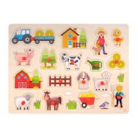 Knopjespuzzel boerderij - 40 x 30 cm