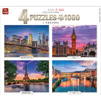 1000PCS CITY AT NIGHT COLLECTION 4IN1