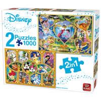 King International Disney puzzel - 2 x 1000 stukjes