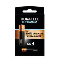 Duracell Alka Optimum AA-batterijen set 4-delig