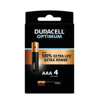 Duracell Alka Optimum AAA-batterijen set 4-delig