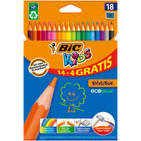 BIC Kids Evolution ECOlutions kleurpotloden set 18-delig