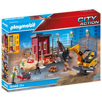 PLAYMOBIL City Action mini graafmachine met bouwonderdeel 70443