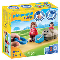 PLAYMOBIL 1.2.3 hondentrein 70406