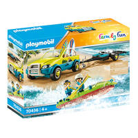 PLAYMOBIL Family Fun strandwagen met kano's 70436