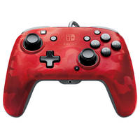 Nintendo Switch Faceoff Deluxe+ Audio bedrade controller - rood