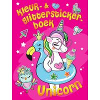 Kleur- en stickerboek eenhoorn