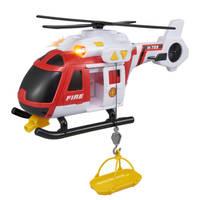 Teamsterz brandweerhelikopter met licht en geluid