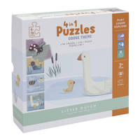 Little Dutch 4 in 1 puzzel Little Goose