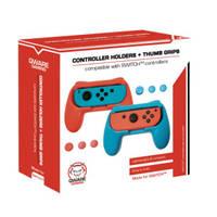 Qware Switch gaming handgrip - blauw/rood