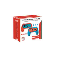 QWARE SWITCH GRIPS-BLAUW/ROOD