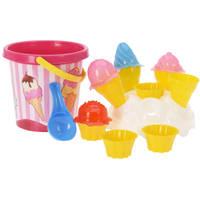 Strandemmer met ijsjes - 17 cm