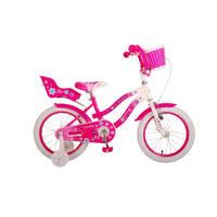 Volare Lovely kinderfiets - 16 inch - roze/wit