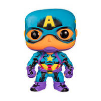 POP! MARVEL: BLACK LIGHT-CAPTAIN AMERICA