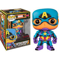 Funko Pop! figuur Black Light Captain America Special Edition