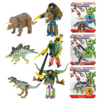 Roboforces transformerende dinosaur - 17 cm
