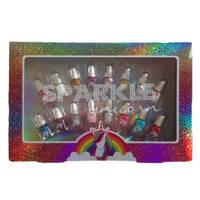 Sparkle Unicorn mininagellak set 16-delig
