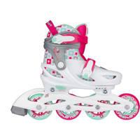 Nijdam Sk8 Star inline skates - maat 37/40 - wit/roze